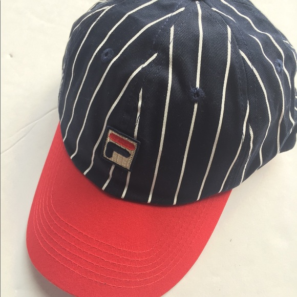 7f250e34e2569 New with tags FILA striped red white   blue hat